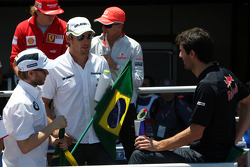 Nick Heidfeld, BMW Sauber F1 Team, Jenson Button, BrawnGP, Mark Webber, Red Bull Racing