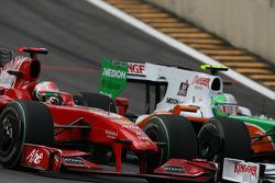 Giancarlo Fisichella, Scuderia Ferrari y Vitantonio Liuzzi, Force India F1 Team