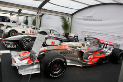 Mercedes Benz commemorates 75 years of Silver Arrow In the paddock there is large cross section of F1 cars and support cars throughout the years