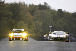 #59 Trackspeed Porsche 911 GT3 RSR: Jorg Bergmeister, Christian Mamerow, #40 Marc VDS Racing Team Ford GT: Bas Leinders, Renaud Kuppens