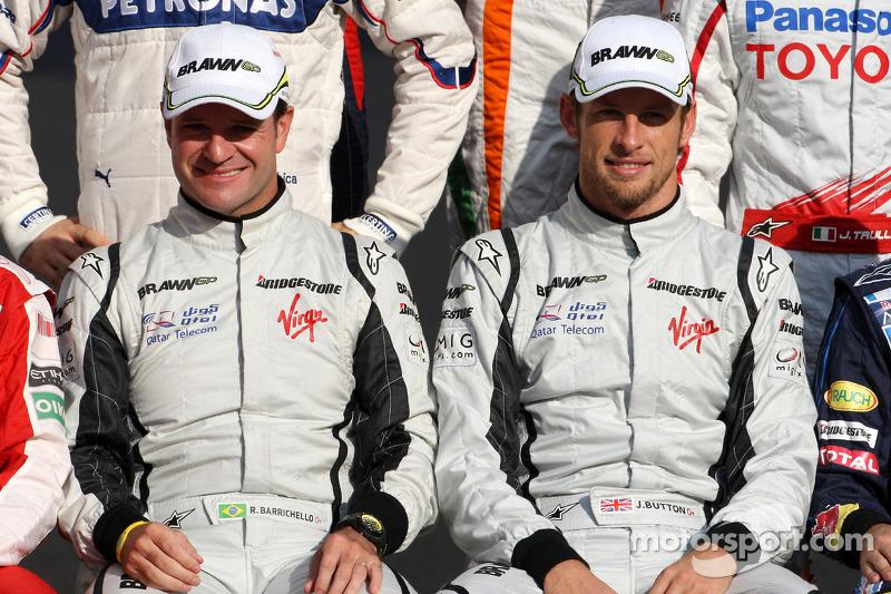 Rubens Barrichello, BrawnGP, Jenson Button, BrawnGP