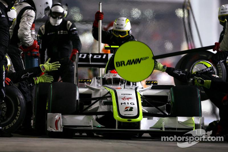 Rubens Barrichello, Brawn GP en un pitstop