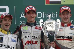 Christian Vietoris fête sa victoire sur le podium avec Davide Valsecchi et Josef Kral