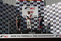 Nicola De Marco, Andy Soucek and Robert Wickens on the race podium
