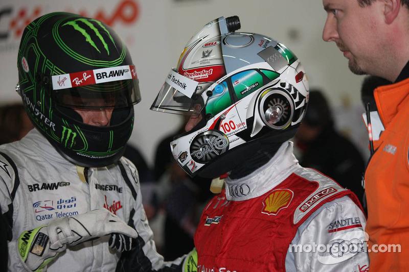 Group A, race 1: Jenson Button and Tom Kristensen