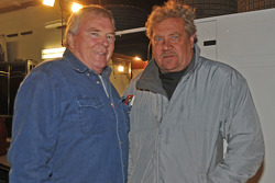 World of Outlaws champion Steve Kinser shown with another veteran, Dick Trickle