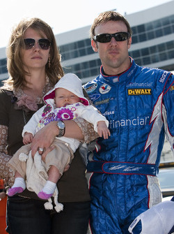 Matt Kenseth with wife Katie and their new born Kaylin