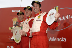 Ferrari Challenge: FCNA, race 1 podium
