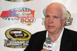 Senator John McCain speaks at a press conference