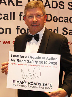 Brawn GP Team Principal Ross Brawn adds his name to the Decade of Action for Road Safety campaign