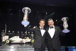 Jenson Button and Ross Brawn, Brawn GP