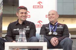 Orlen Team presentation: Krzysztof Holowczyc and Jacek Czachor on stage