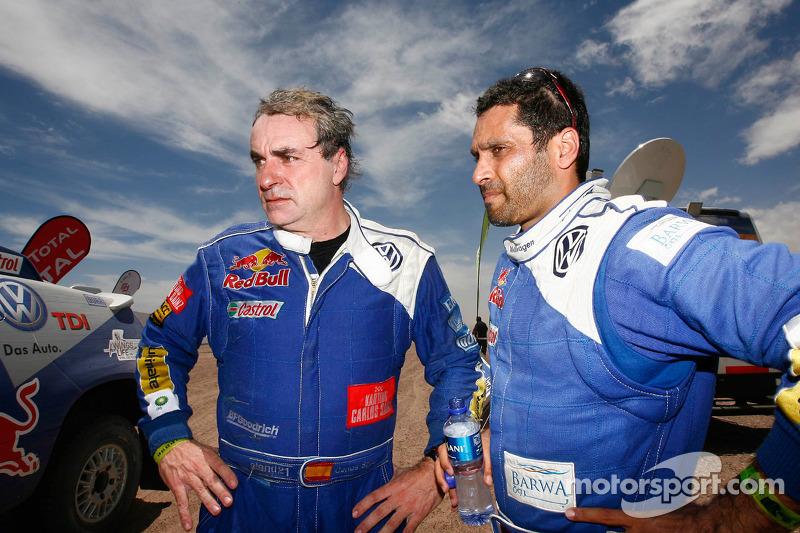 Carlos Sainz en Nasser Al Attiyah