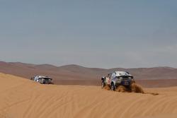 #300 Volkswagen: Giniel De Villiers et Dirk Von Zitzewitz, #312 Volkswagen: Mauricio Neves et Clecio Maestrelli