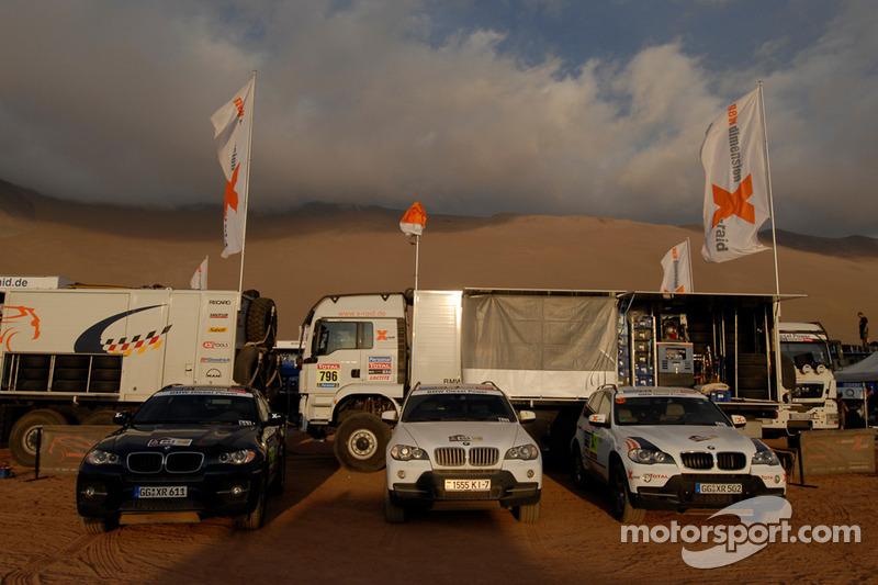 Véhicules d'assistance de l'équipe X-Raid BMW