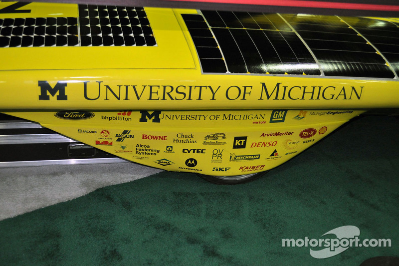 Voiture solaire Infinium de l'University of Michigan