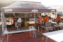 Área de servicio de KTM