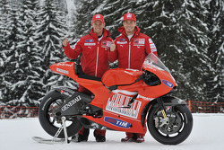 Nicky Hayden en Casey Stoner, voorstelling Ducati Desmosedici GP10
