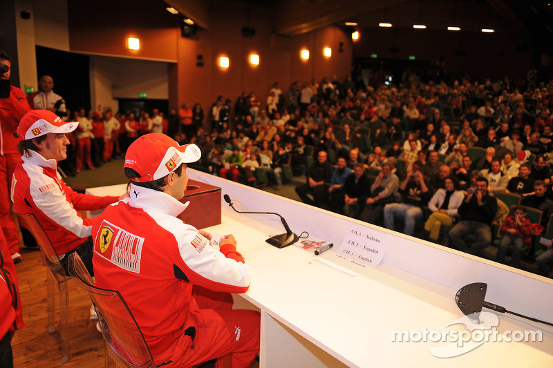 Séance Questions/Réponses avec des fans pour Fernando Alonso et Felipe Massa