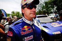 Carlos Sainz, vainqueur du Dakar 2010 dans la catégorie Autos