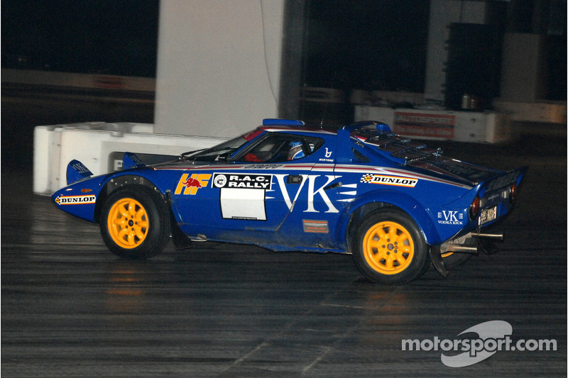 Mark Higgins dans une Lancia Stratos