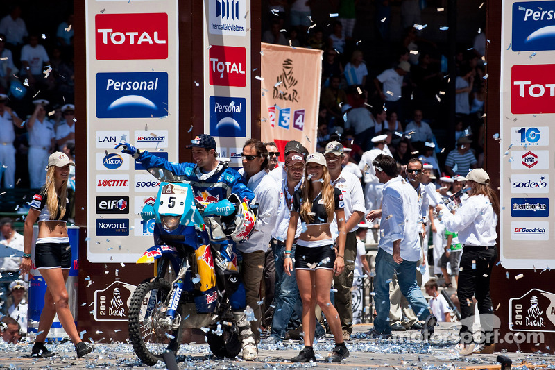 Podium catégorie MotosDakar 2010 : Helder Rodrigues, quatrième
