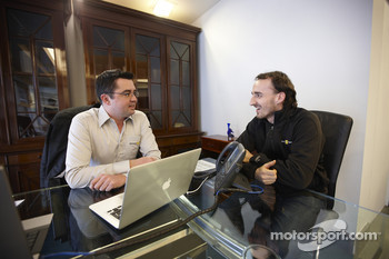 Boullier and Kubica before the accident