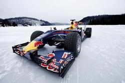 Red Bull Racing F1 car in de sneeuw Circuit Gilles-Villeneuve in Lac-à-l'Eau-Claire, Québec, Canada