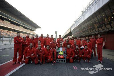 Valentino Rossi Ferrari test