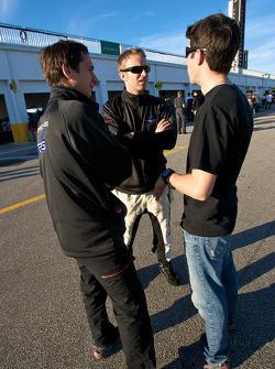 Wolf Henzler, Timo Bernhard and Mike Rockenfeller