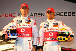 Jenson Button, McLaren Mercedes, und Lewis Hamilton, McLaren Mercedes