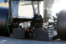 La nouvelle BMW Sauber C29 (détails): le diffuseur arrière recouvert