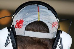 Michael Schumacher, Mercedes GP, détail de la casquette