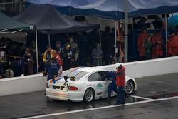 #21 Matt Connolly Motorsports Pontiac GTO.R: Mauro Casedei, Gabrio Rosa in the pits