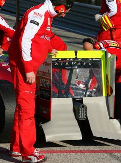 Scuderia Ferrari rear wing