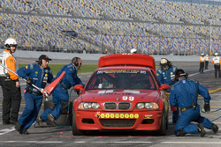 Pit stop for #99 Automatic Racing BMW M3 Coupe: Mark Hillestad, Barry Waddell