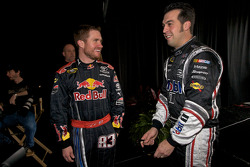 Brian Vickers, Red Bull Racing Team Toyota, Sam Hornish Jr., Penske Racing Dodge