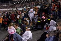 Fans enjoy the pre-race show