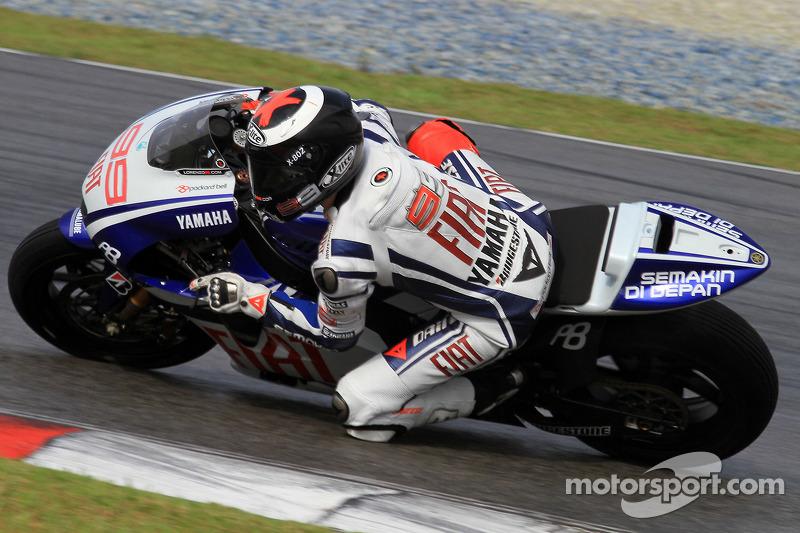 Jorge Lorenzo de l'équipe Fiat Yamaha