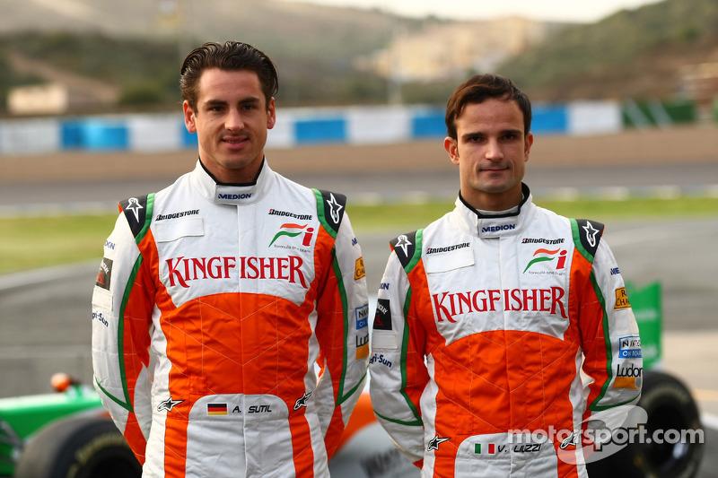 Adrian Sutil, Force India F1 Team; Vitantonio Liuzzi, Force India F1 Team