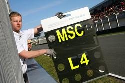 Michael Schumacher, Mercedes GP pit board