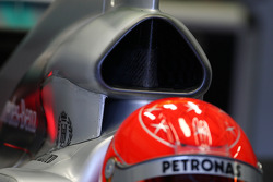 Michael Schumacher, Mercedes GP Petronas, W01, detail, airbox
