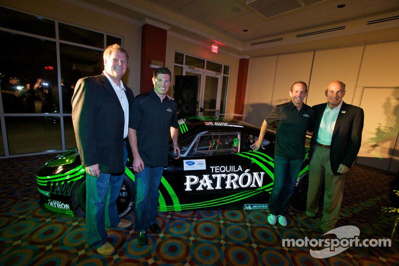 Tequila Patron, sponsor van de American Le Mans Series: Matt Carroll, Scott Sharp, Ed Brown en Scott Atherton