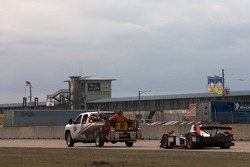 #37 Intersport Racing Lola B06/10 AER: Jon Field, Clint Field, Nikolas Konstant crashes