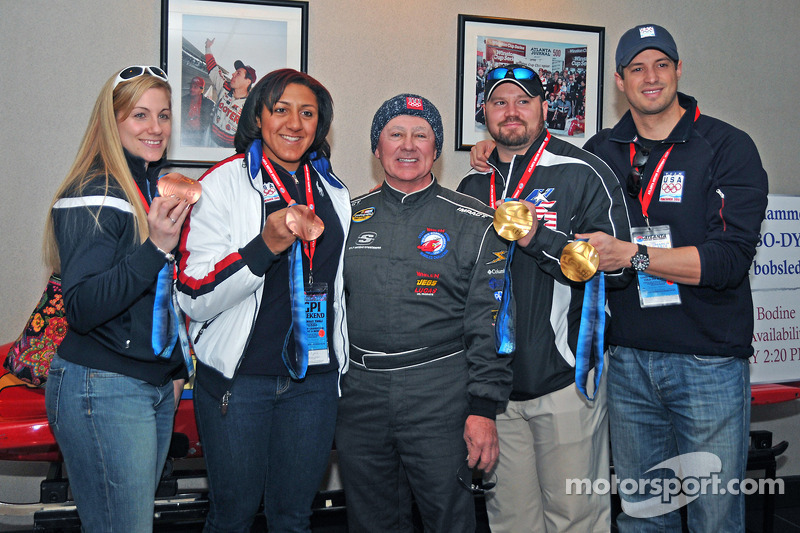 Olympic 2-person bobsled bronze medla winners Erin Pac and Alana Meyers, driver and Bo-Dyn ...