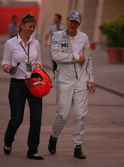 Sabine Kehm, porte-parole de Michael Schumacher, Mercedes GP