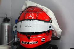 The helmet of Michael Schumacher, Mercedes GP
