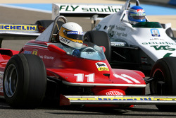 Jody Scheckter, 1979 F1 World Champion drives the 1979 Ferrari 312 T4 and Keke Rosberg, 1982 F1 World Champion drives the 1982 Williams FW08
