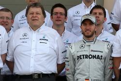 Norbert Haug, Mercedes, Chef du Sport automobile, Nick Heidfeld, Test Driver, Mercedes GP