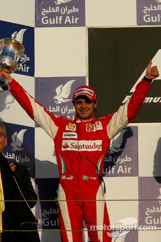 Podium: 2de Felipe Massa, Scuderia Ferrari